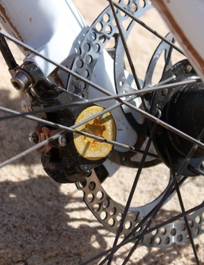 Formula's The One brake features a large piston single piece caliper