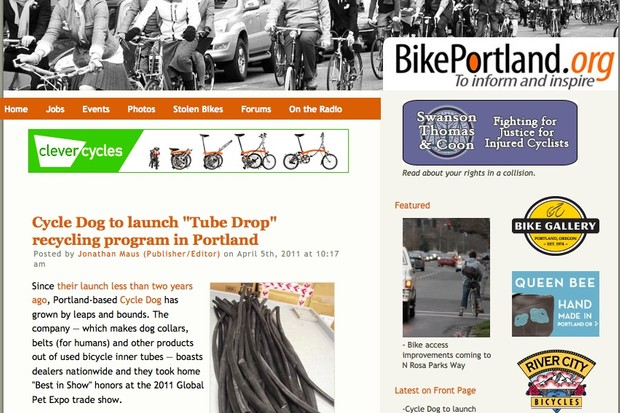 BikePortland.org mixes all things bike, from eccentric to advocate, from Portland, Oregon