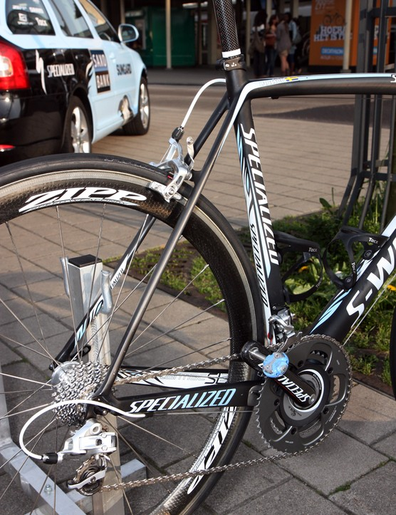 Specialized uses big chain stays and slim seat stays on its S-Works Tarmac SL3.