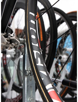 Gloria Radaelli of FSA has revealed that Filippo Pozzato's (Katusha) new wheel is actually the Vision TriMax Carbon TC24, a wide-but-shallow carbon tubular road racing wheelset that was originally scheduled to be revealed at the Sea Otter Classic later this month.