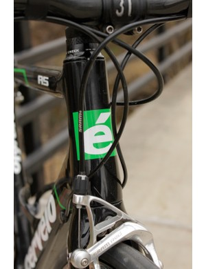 Cervelo employ their first tapered steerer/head tube on the R5