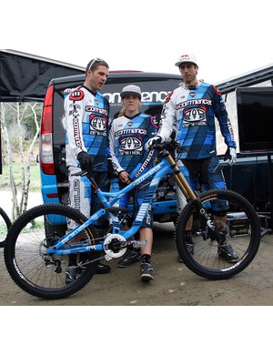 The Athertons with their new downhill race rig