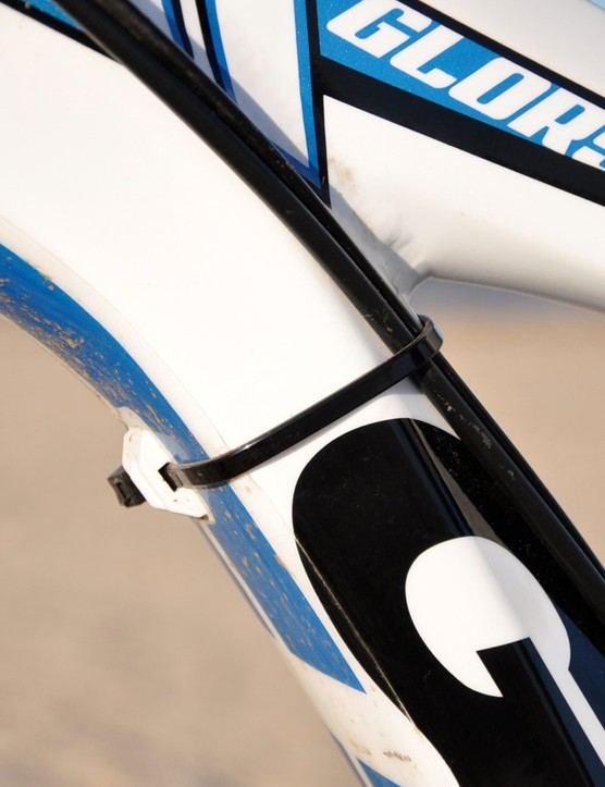 Keep an eye out for different guide placement in future Glory production runs, as the team were finding that the housing placement on the underside of the down tube was resulting in some damage