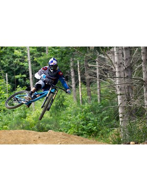 Gee riding the new Commencal Supreme V3