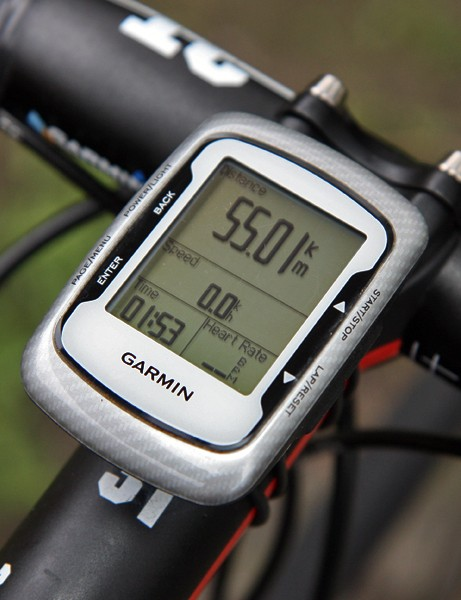 Naturally, Garmin-Cervelo team bikes are all outfitted with Garmin's Edge 500 computer