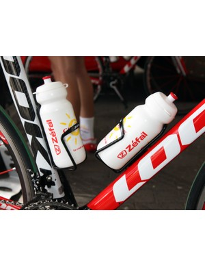 Cofidis has already swapped its bottle cages in preparation for Sunday's Paris-Roubaix.