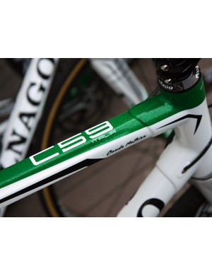 Europcar's Colnagos are tastefully dressed in metallic green and white paint.