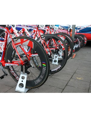 Scheldeprijs is virtually pan-flat from start to finish so many riders opted for deep-section wheels that day.