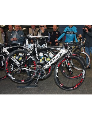 Vacansoleil-DCM riders were on a mix of Ridley Noah and Helium models at Scheldeprijs.