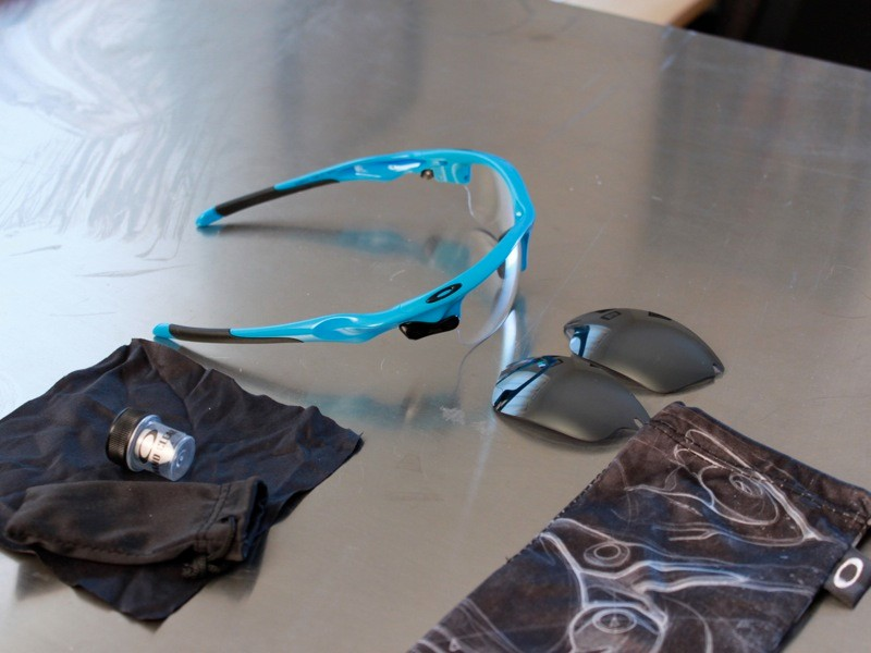 The US$220 kit comes with frames, two lenses, bag, case and hydrophobic lens treatment