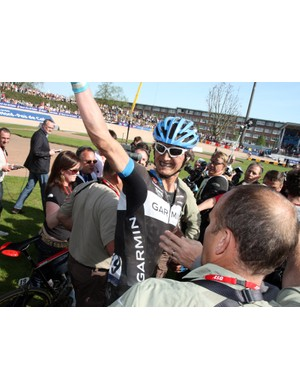 Yes! Johan Van Summeren (Garmin-Cervélo) finally gets the win that many people have long said he was capable of.