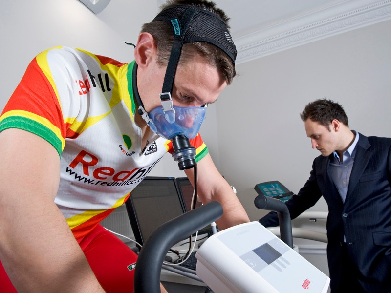 David Motton gained six seconds a mile over a 29.9-mile time trial following sports testing and coaching by Professor Greg White of 76 Harley Street