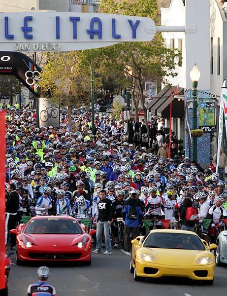 The start of the 2011 Gran Fondo Colnago San Diego
