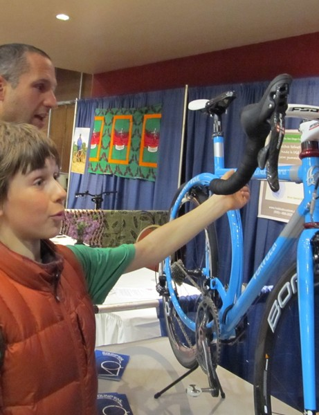 The Tortola ROUNDTAIL garnered lots of attention at this weekend's San Diego Custom Bicycle Show