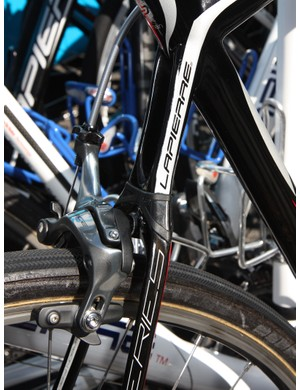 Several FDJ riders were on Lapierre's latest Sensium model with elastomer-damped seatstays at Paris-Roubaix