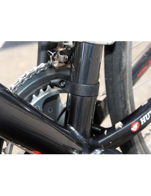 A Deda Dog Fang chain watcher is fitted to the seat tube
