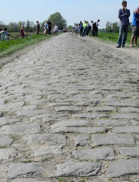 The cobbles of Roubaix take an incredible toll on bike and rider