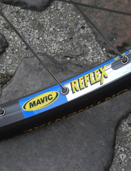 Mavic's stalwart Reflex CD rim is the second most popular traditional rim at Paris-Roubaix