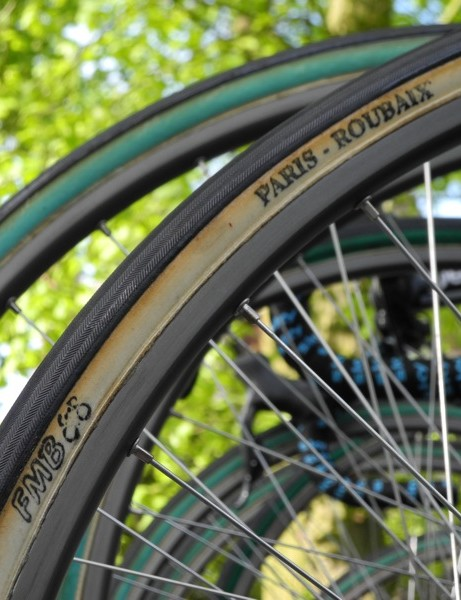 FMB's Paris Roubaix was the day's most popular tire, here in cotton and with a reinforced casing (green)
