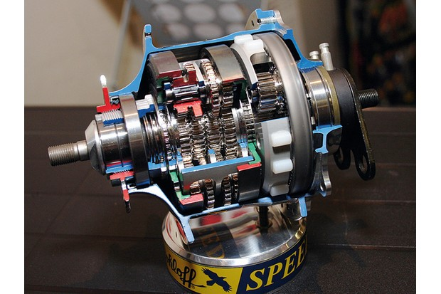 The rather confusing innards of a Speedhub
