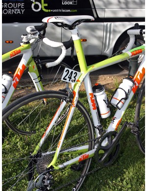 Integrated seatmasts on Bretagne-Schuller's KTM Revelators are a good way to prevent seatpost slippage