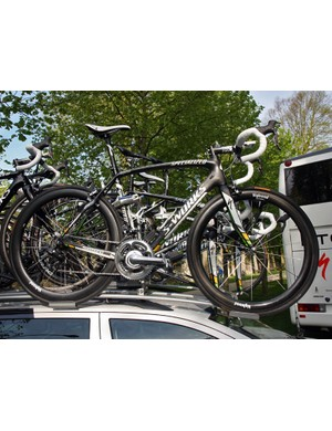 Many Specialized-sponsored riders chose the company's softer-riding and mellower-handling S-Works Roubaix SL3 for Sunday's race