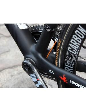 Filippo Pozzato's (Katusha) bike features a BB30 bottom bracket shell