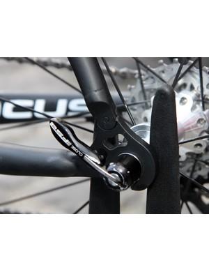High-leverage FSA skewers secure the wheels on Filippo Pozzato's (Katusha) bike