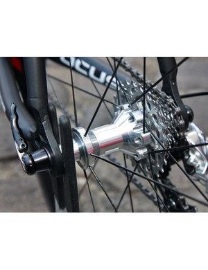Vision use their own aluminum-bodied hubs for their carbon wheels