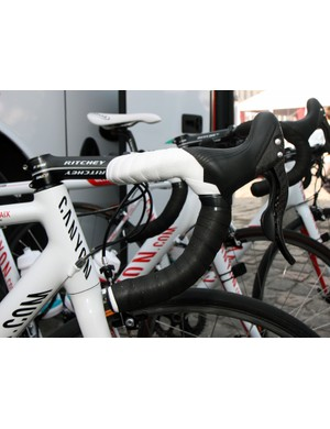 Omega Pharma-Lotto rider Andre Greipel prefers his Ritchey bars tilted quite a bit upwards