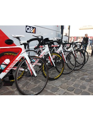 Omega Pharma-Lotto riders used three different bike models during this year's Paris-Roubaix