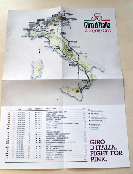 Giant route wallmap