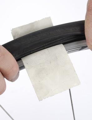 Badly slashed tyre