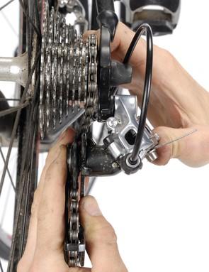 Bent rear mech or gear hanger