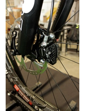 Our test bike came equipped with Shimano's new XT M785 trail brakes