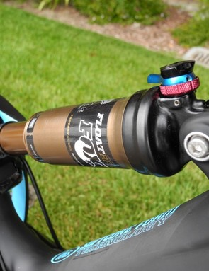 Fox's new RP23 Adaptive Logic Boost Valve rear shock with Kashima coating