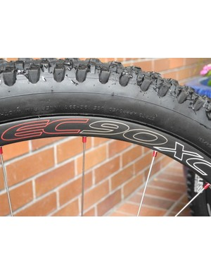 Our test bike came equipped with Easton's new 1,280g (on our scales) EC90 XC wheelset