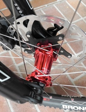 Easton's new EC90 XC front hub in its 15QR configuration