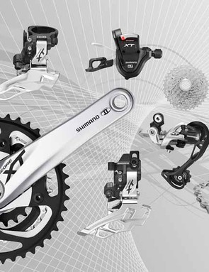 Shimano Deore XT M780 group - silver