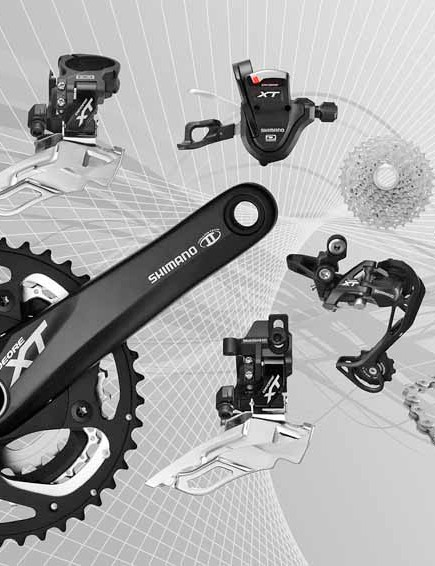 Shimano Deore XT M780 group - black