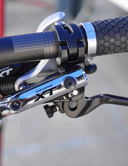 Shimano Deore XT BL-M785 brake lever and SL-M780 shifter (left-hand)