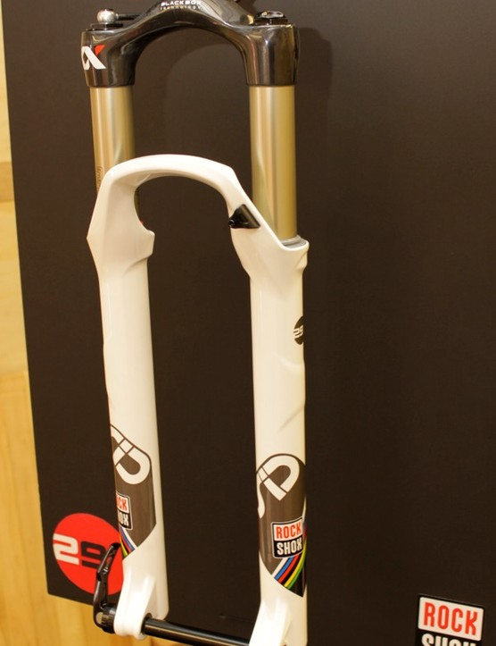 The new SID XX World Cup features a tapered carbon crown and all of the design features of the 26in fork