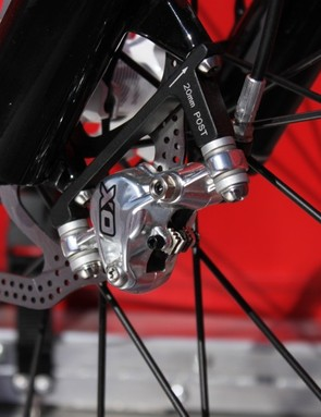 The polished X0 brake caliper