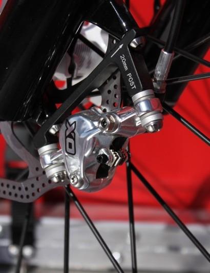 The polished X0 brake caliper