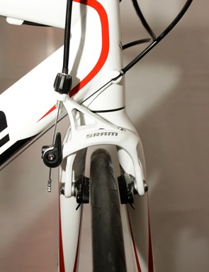 Arctic White brake calipers