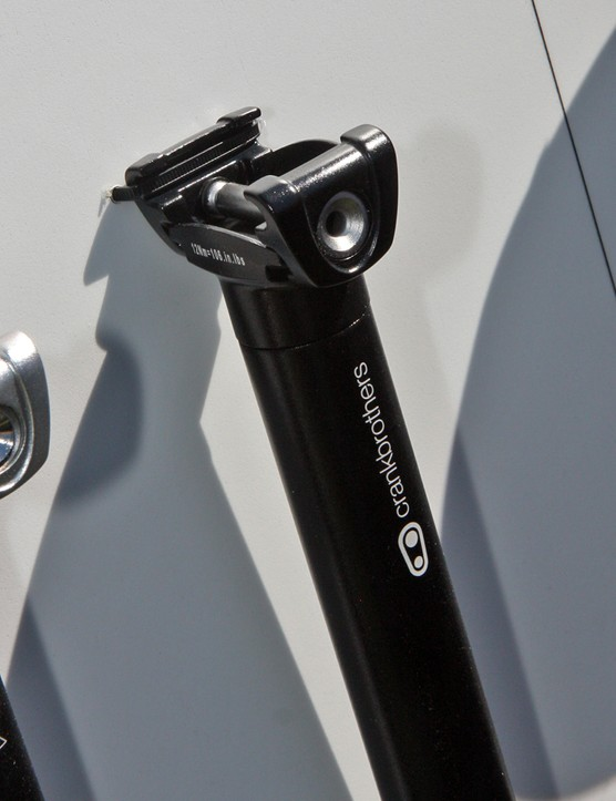 CrankBrothers adds an entry-level seatpost for 2012 with a bonded aluminum head