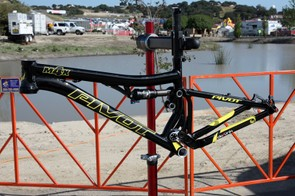 Pivot Cycles built this M4X four-cross/slalom frame for their race team but it may reach production if there's enough consumer demand
