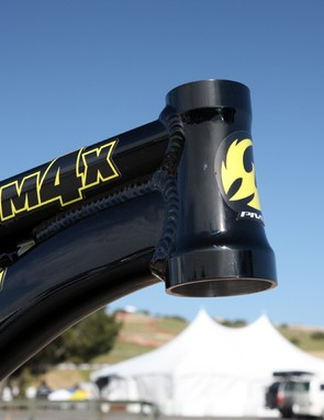 The Pivot Cycles M4X uses a tapered head tube