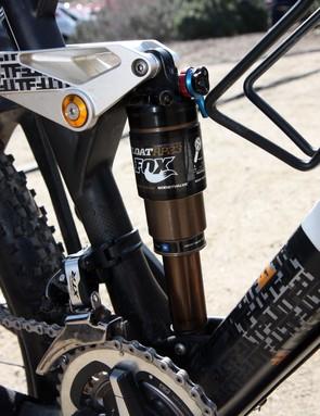 BMC use Fox Racing Shox's latest RP23 Adaptive Logic Boost Valve rear shock