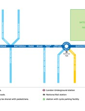 Cycle Superhighway 8 route